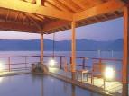 湖上露天風呂:朝陽