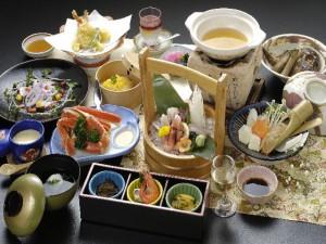 料理:季節の会席プラン(よこ)